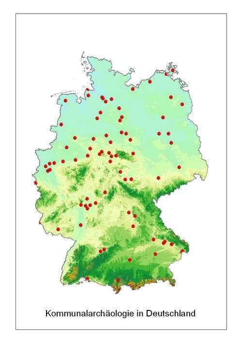Kommunalarchäologien in Deutschland, Abb.: Verband der Landesarchäologen